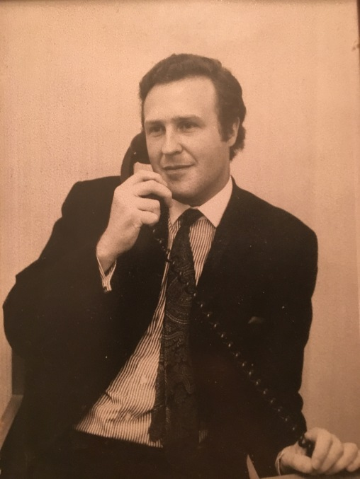 Dad in his banking days